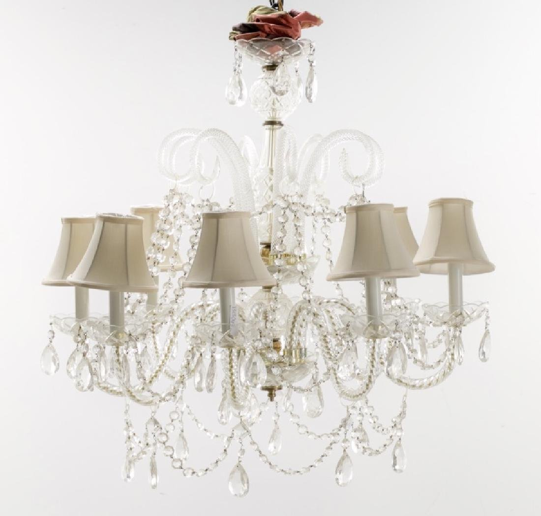 Waterford Style Crystal 8-Light Chandelier