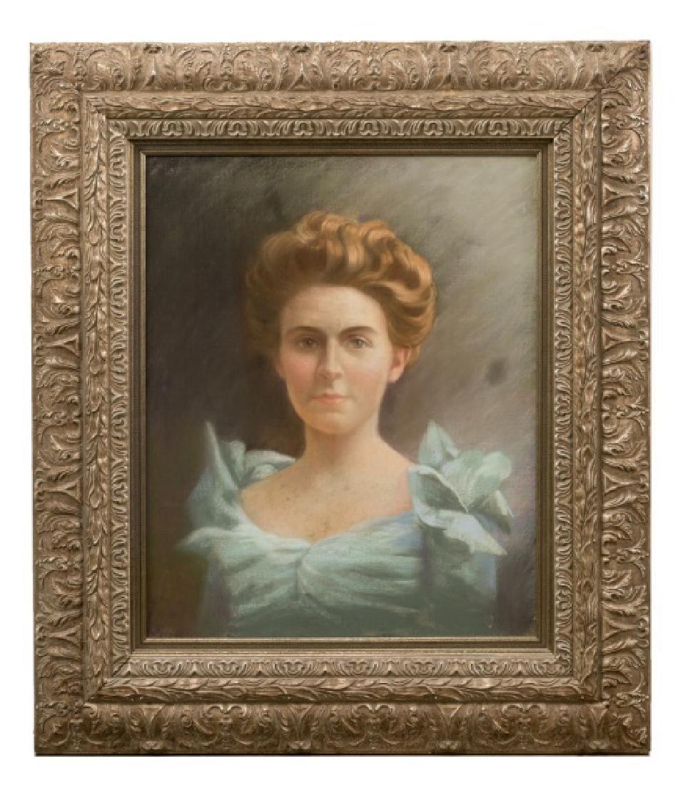 Mabel Rollins Harris Portrait of Lady, Signed O/C