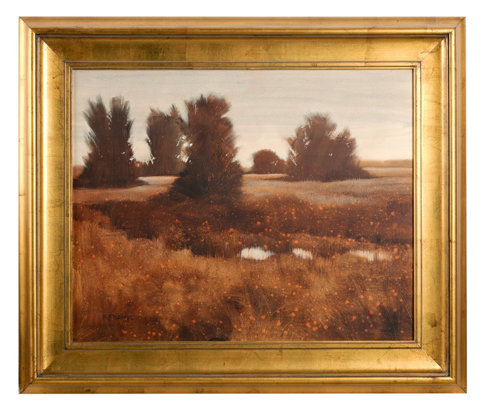 "Robert Frank ""Wetland Dusk"" Oil On Canvas"