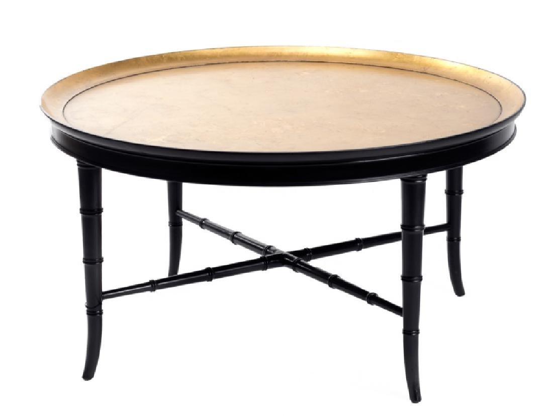 Kittinger Parcel Gilt Ebonized Cocktail Table