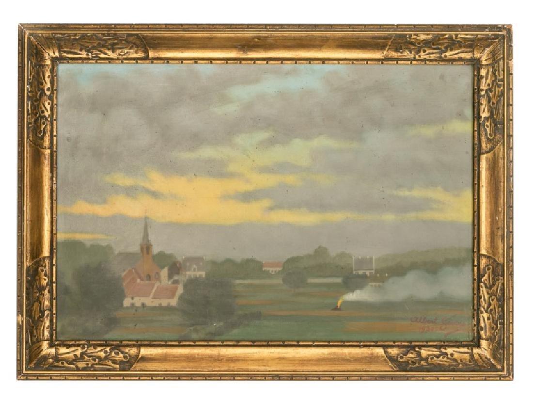 "Albert Severy WPA O/C ""Rural Scene"" c. 1930"