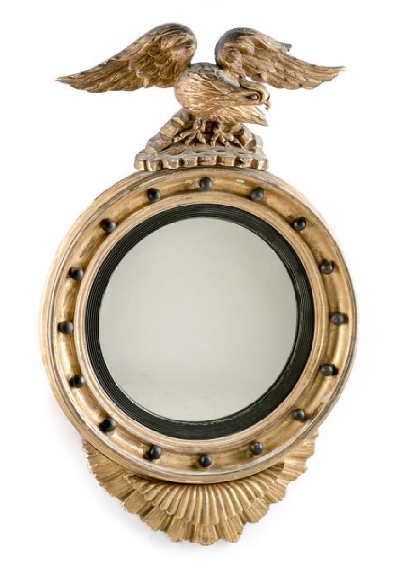 18th/19th C. American Federal Gilt Bullseye Mirror