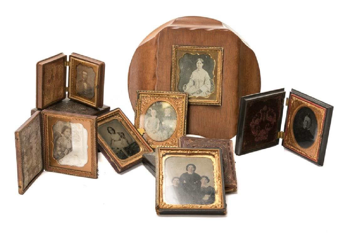 Group of 12 Ambrotypes, Daguerreotypes, Tin Types