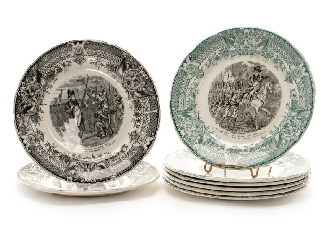 Group of 8 Sarreguemines Napoleonic Plates