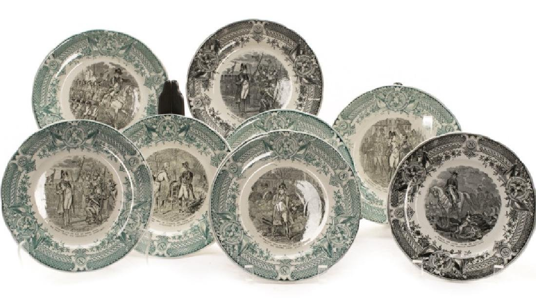 Group of 8 Sarreguemines Napoleonic Plates - 2