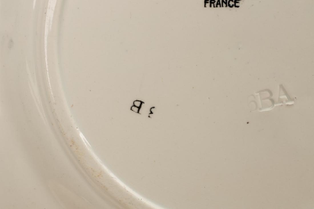 Group of 8 Sarreguemines Napoleonic Plates - 4