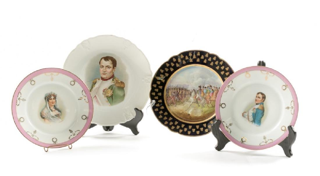 Group of 4 Napoleon Interest Plates, Sevres/Others