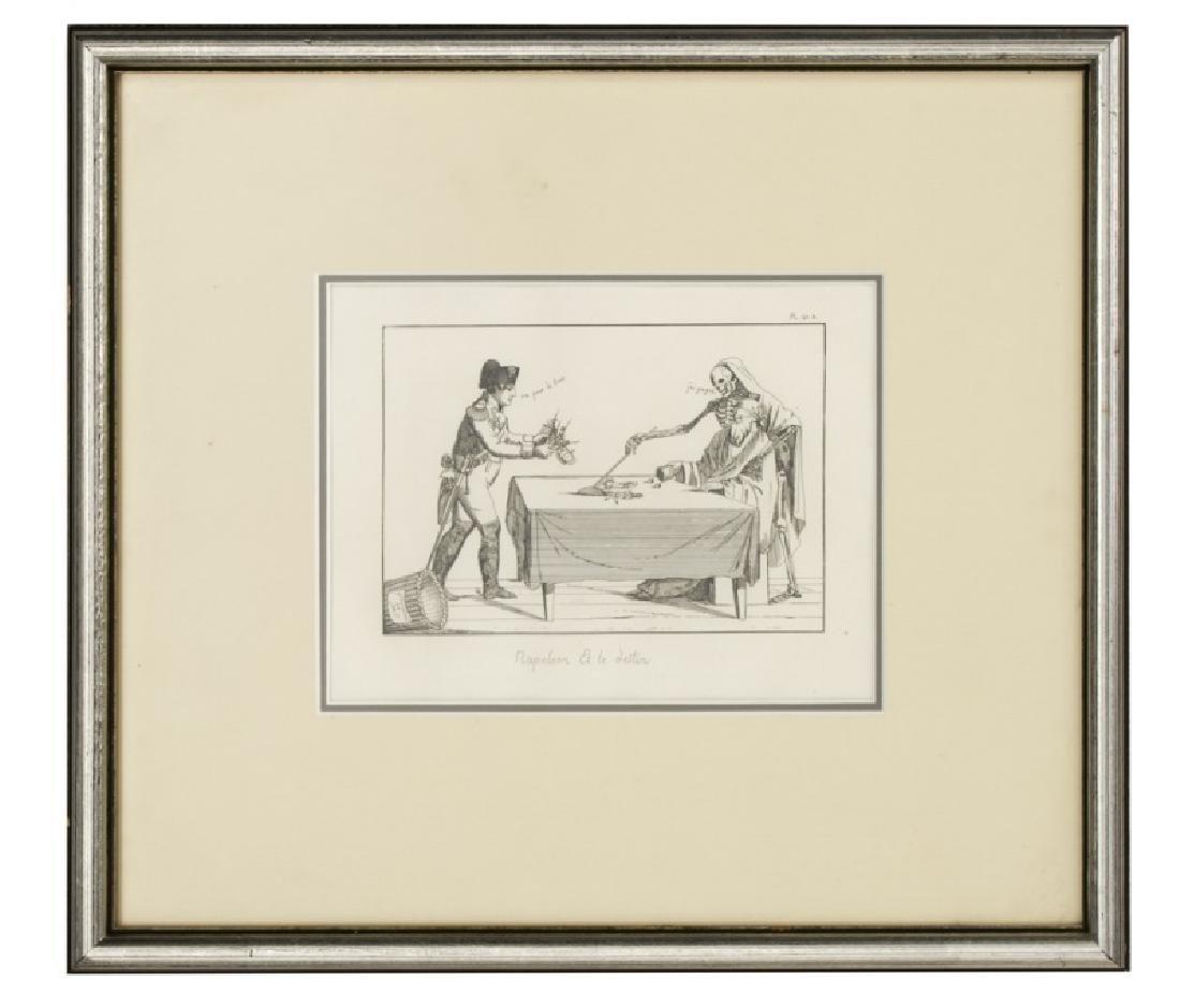 """The Second Board Etching, """"Napoleon et le Destin"""""""
