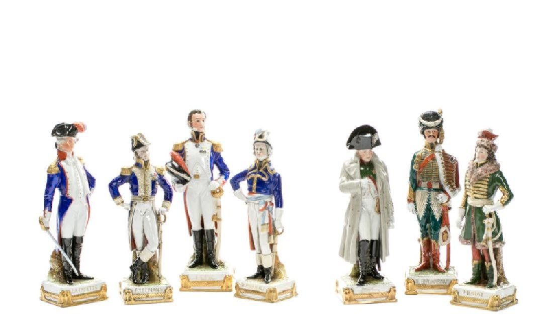 Group, 7 French Revolution Porcelain Figurines