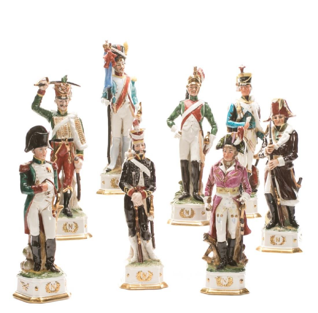 Group of 8 French Revolution Porcelain Figurines