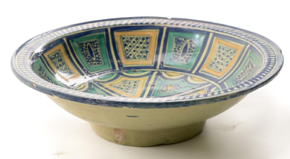 18th/19th C. Spanish Tin Glaze Naive Pottery Bowl