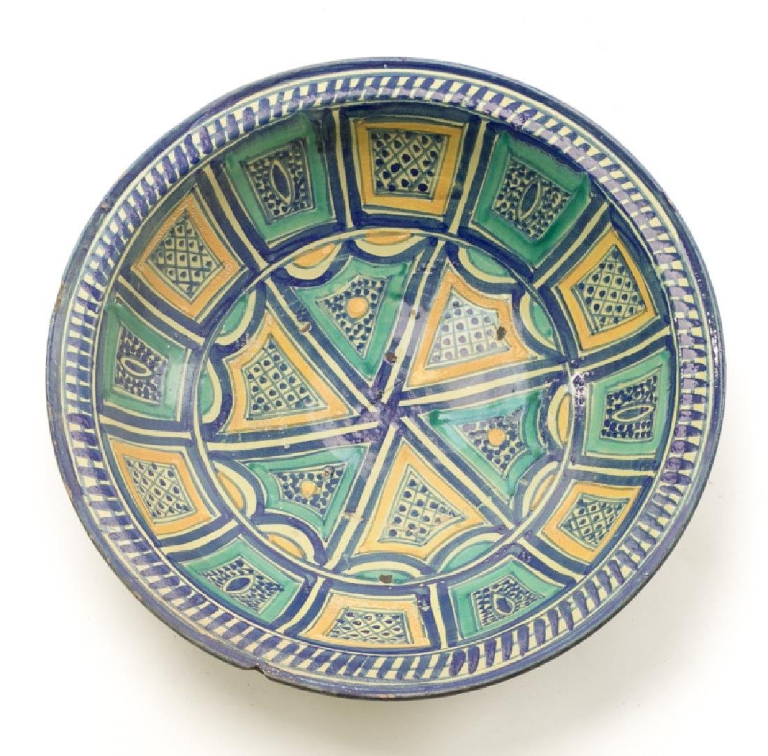 18th/19th C. Spanish Tin Glaze Naive Pottery Bowl - 2