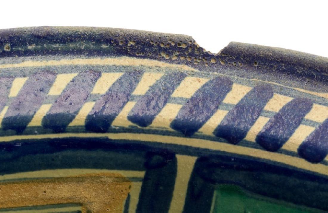 18th/19th C. Spanish Tin Glaze Naive Pottery Bowl - 4