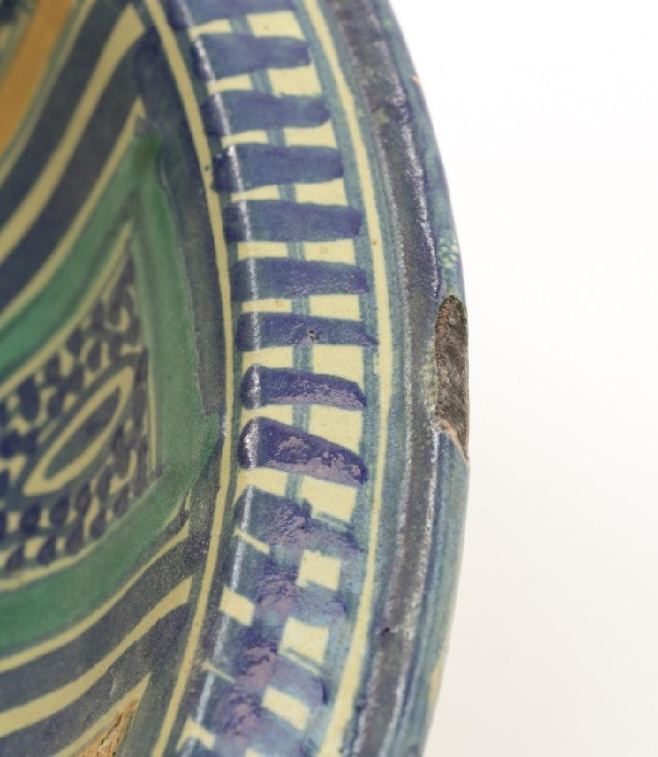 18th/19th C. Spanish Tin Glaze Naive Pottery Bowl - 5