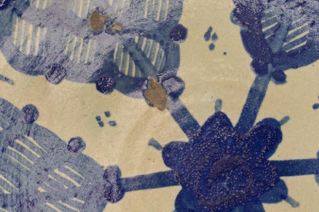 Group of Spanish Blue & White Tin Glazed Pottery - 4