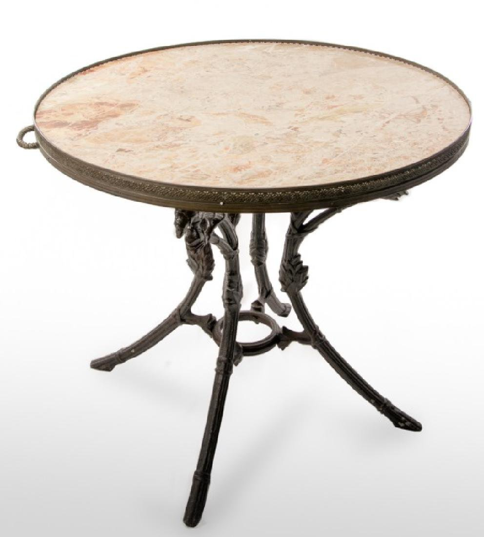 Continental Cast Iron & Marble Table