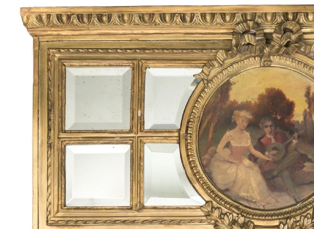 19th C. Continental Giltwood Trumeau Mirror - 4