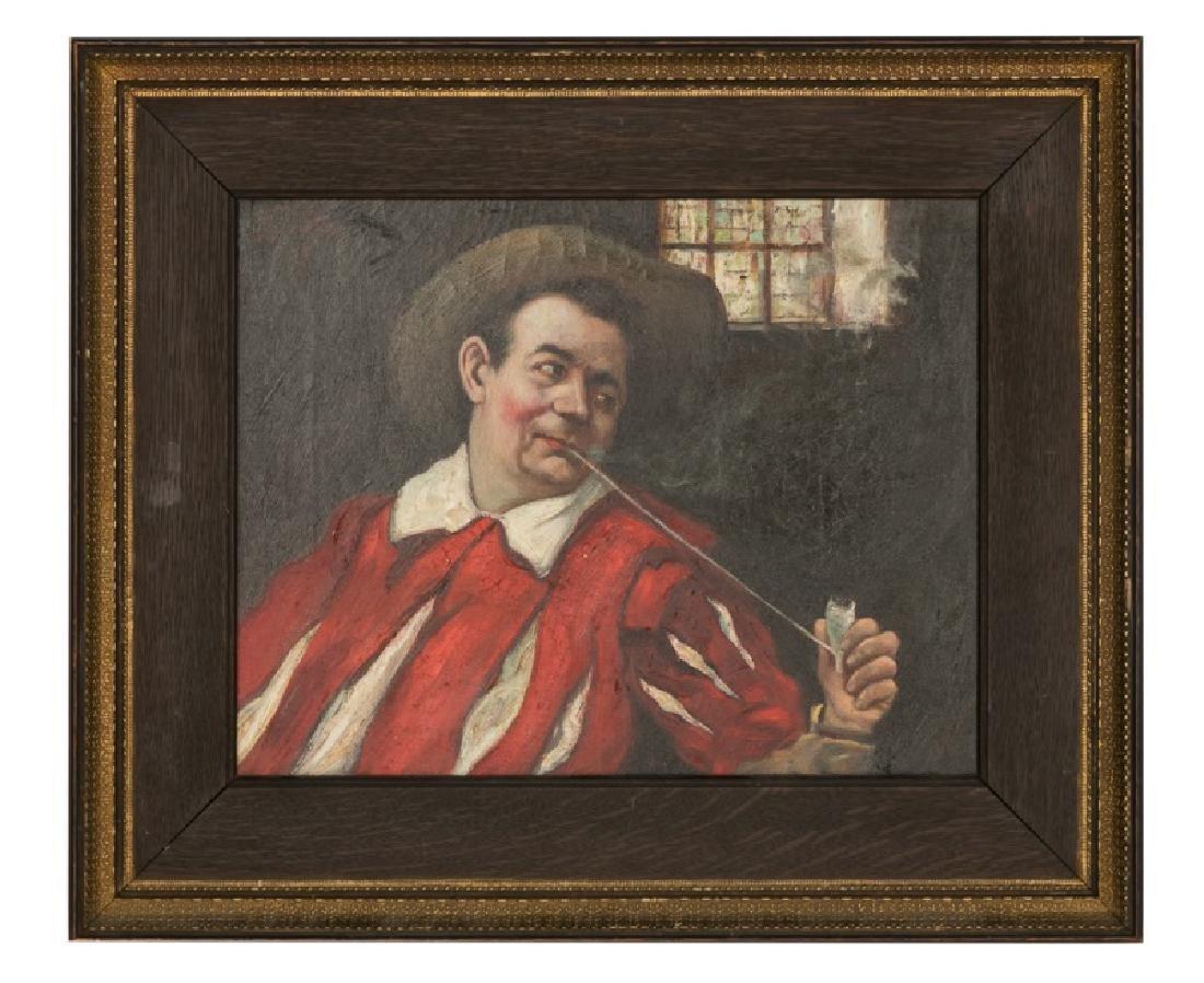 "H. Trafton ""Gentleman With Tavern Pipe"" O/C"