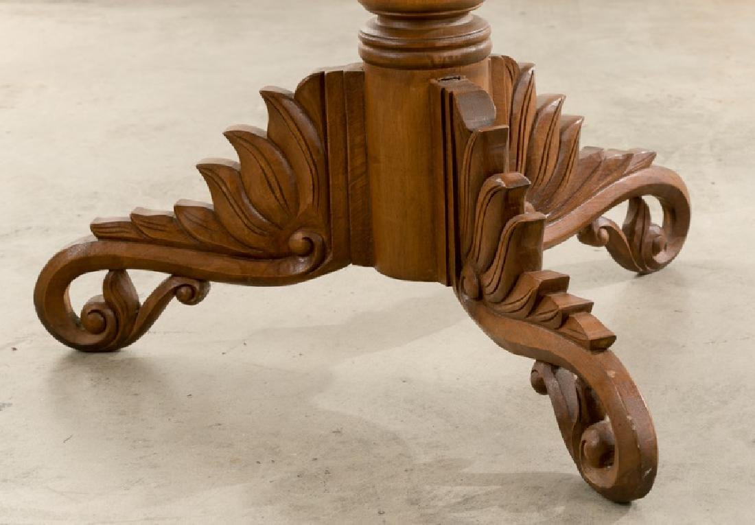Continental Transitional Cherry Wood Tripod Table - 2