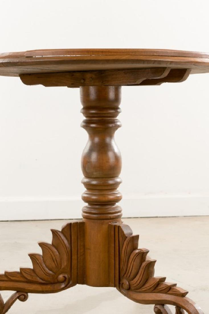 Continental Transitional Cherry Wood Tripod Table - 3