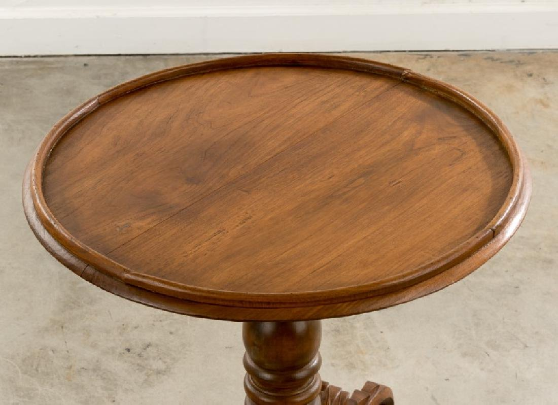 Continental Transitional Cherry Wood Tripod Table - 6
