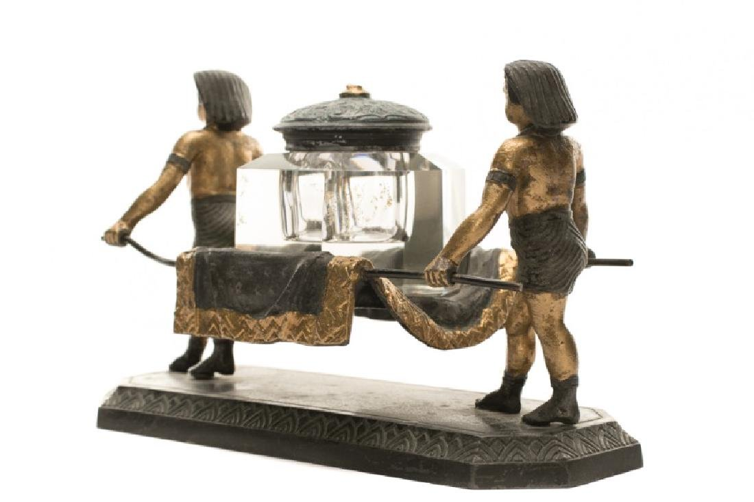 19th C. Egyptian Revival Ink Well, Nicholas Muller - 3