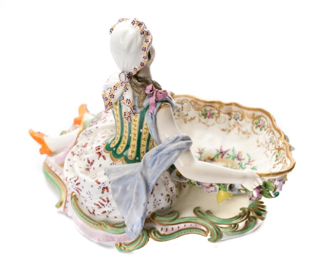 Pair of 19th C. Porcelain Dishes with Figures - 2