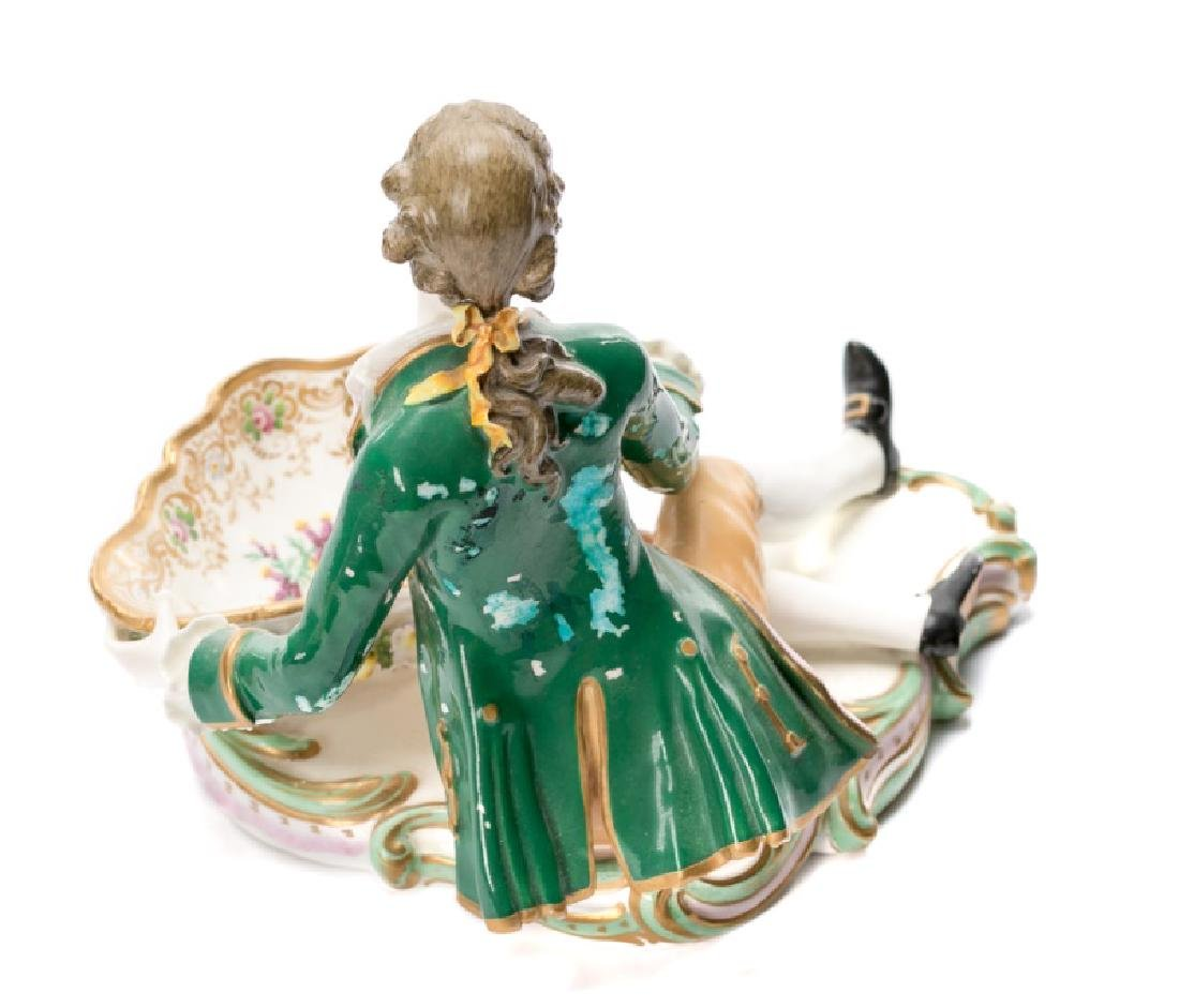 Pair of 19th C. Porcelain Dishes with Figures - 3