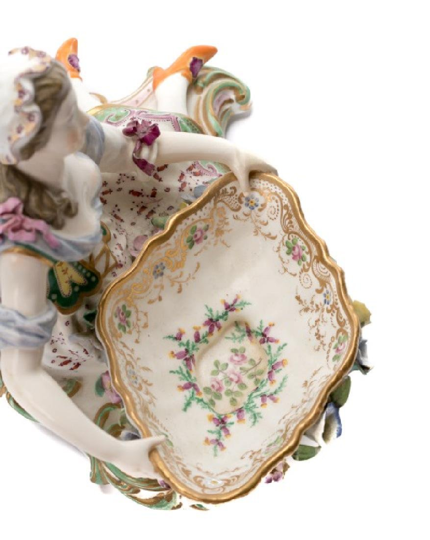 Pair of 19th C. Porcelain Dishes with Figures - 4