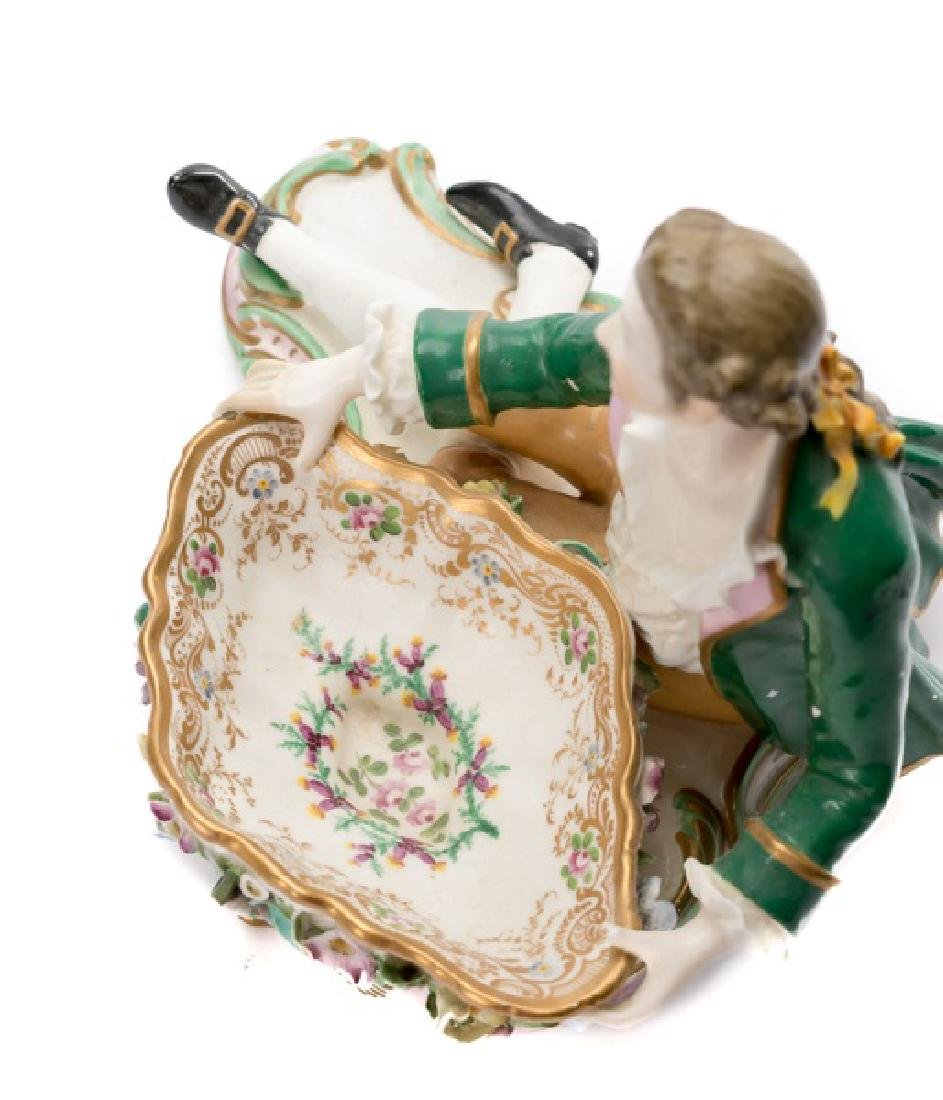 Pair of 19th C. Porcelain Dishes with Figures - 5