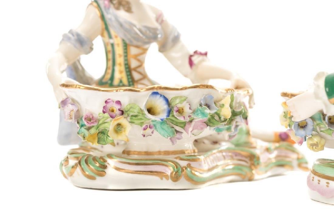 Pair of 19th C. Porcelain Dishes with Figures - 6