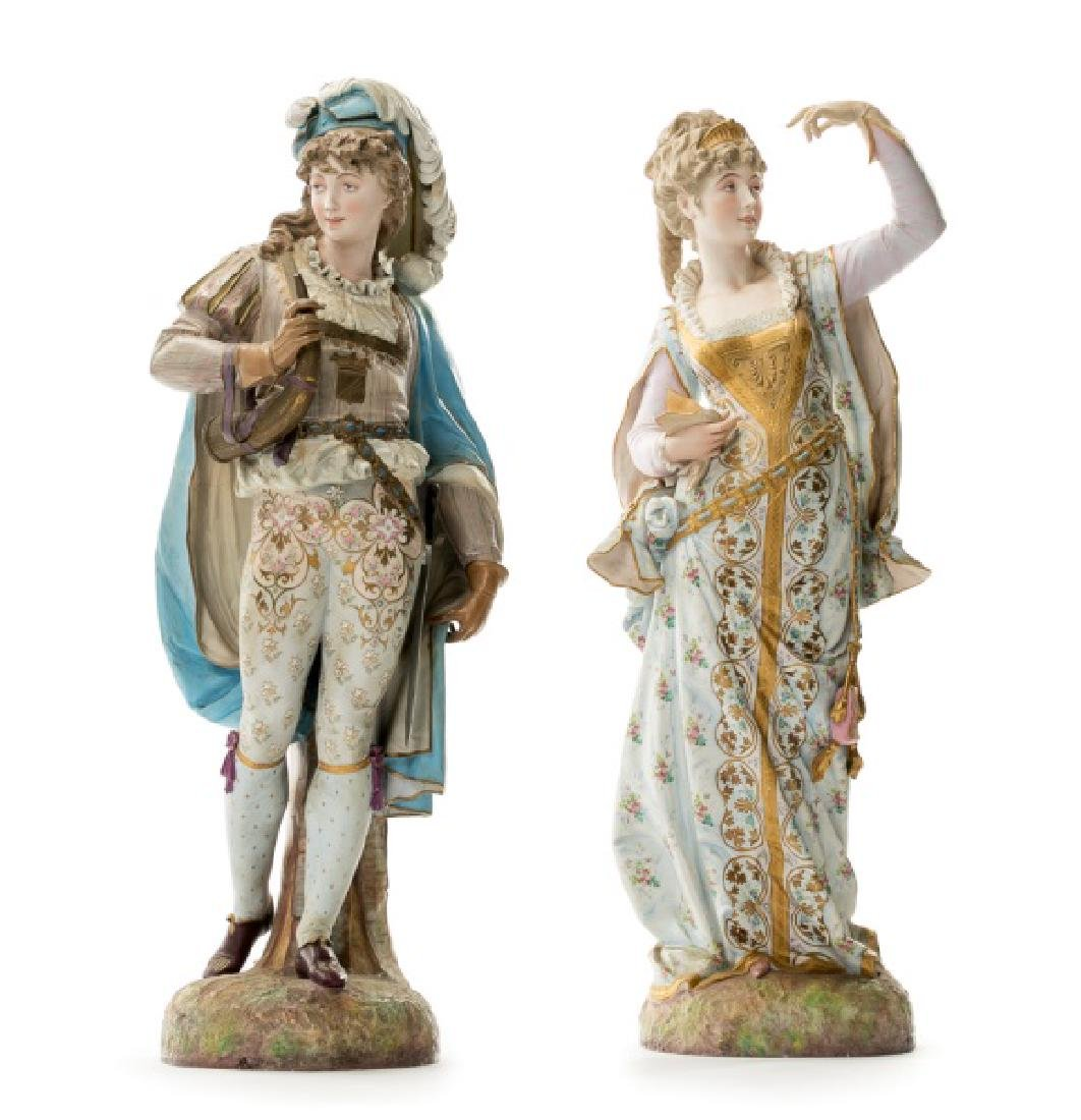 Pair, Continental Porcelain Figurines