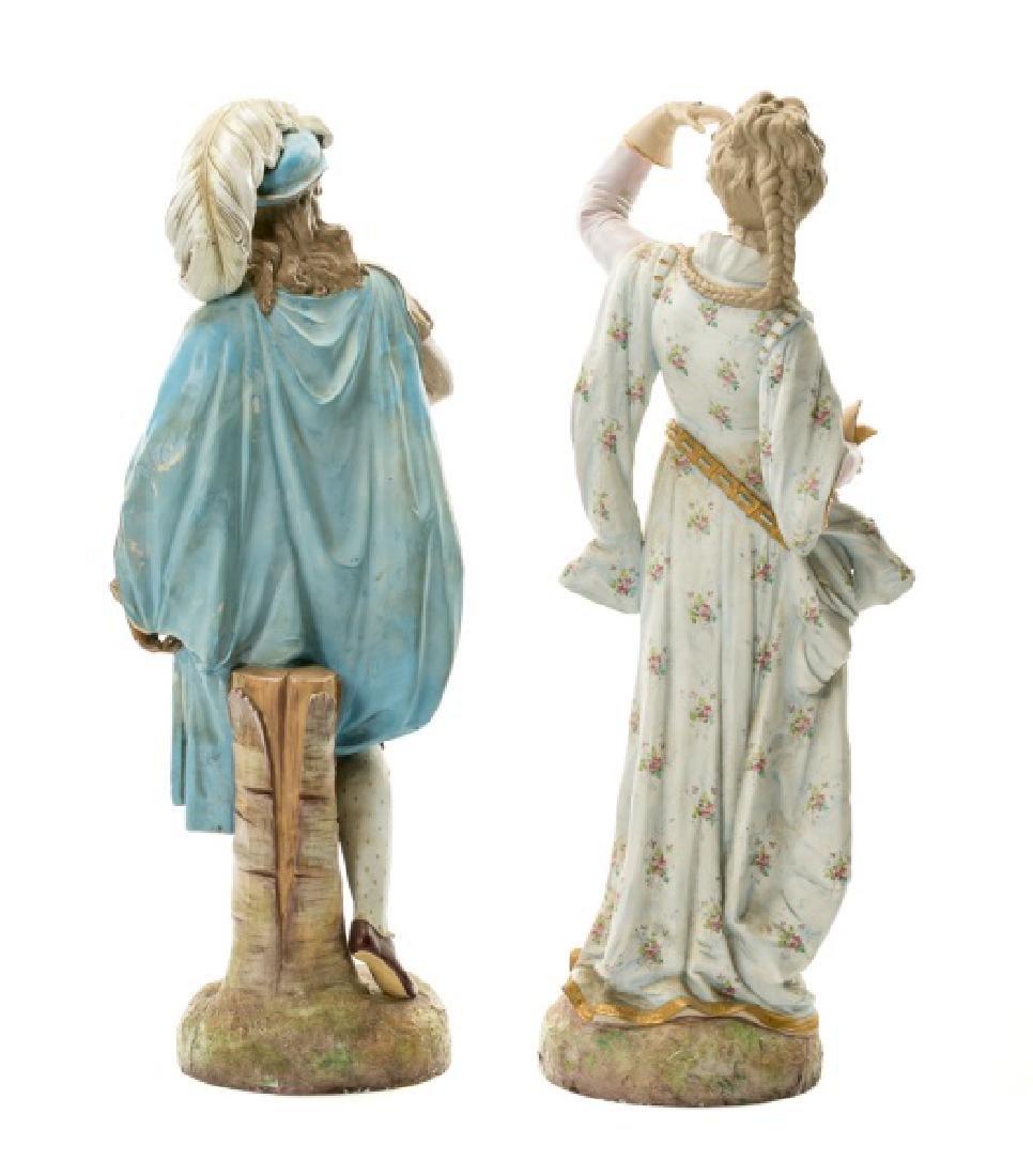 Pair, Continental Porcelain Figurines - 2