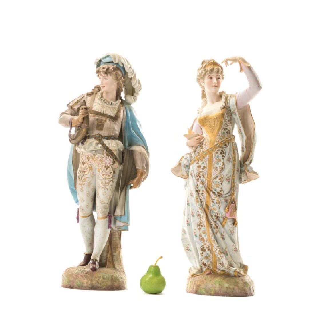 Pair, Continental Porcelain Figurines - 5