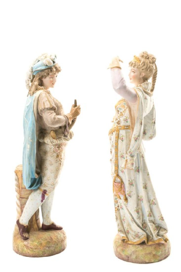 Pair, Continental Porcelain Figurines - 6