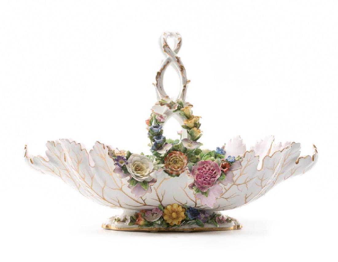 Meissen Large Porcelain Basket ca. 1860