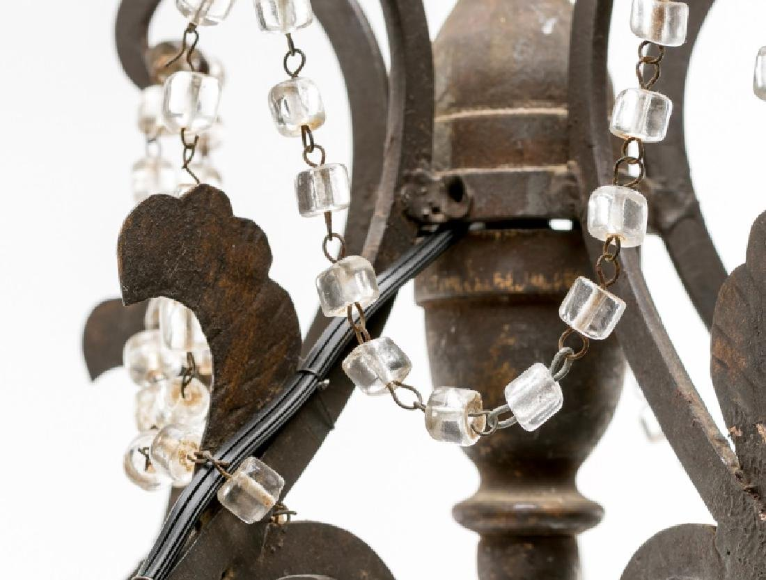 19th C. Italian Rococo Wrought Iron Chandelier - 3
