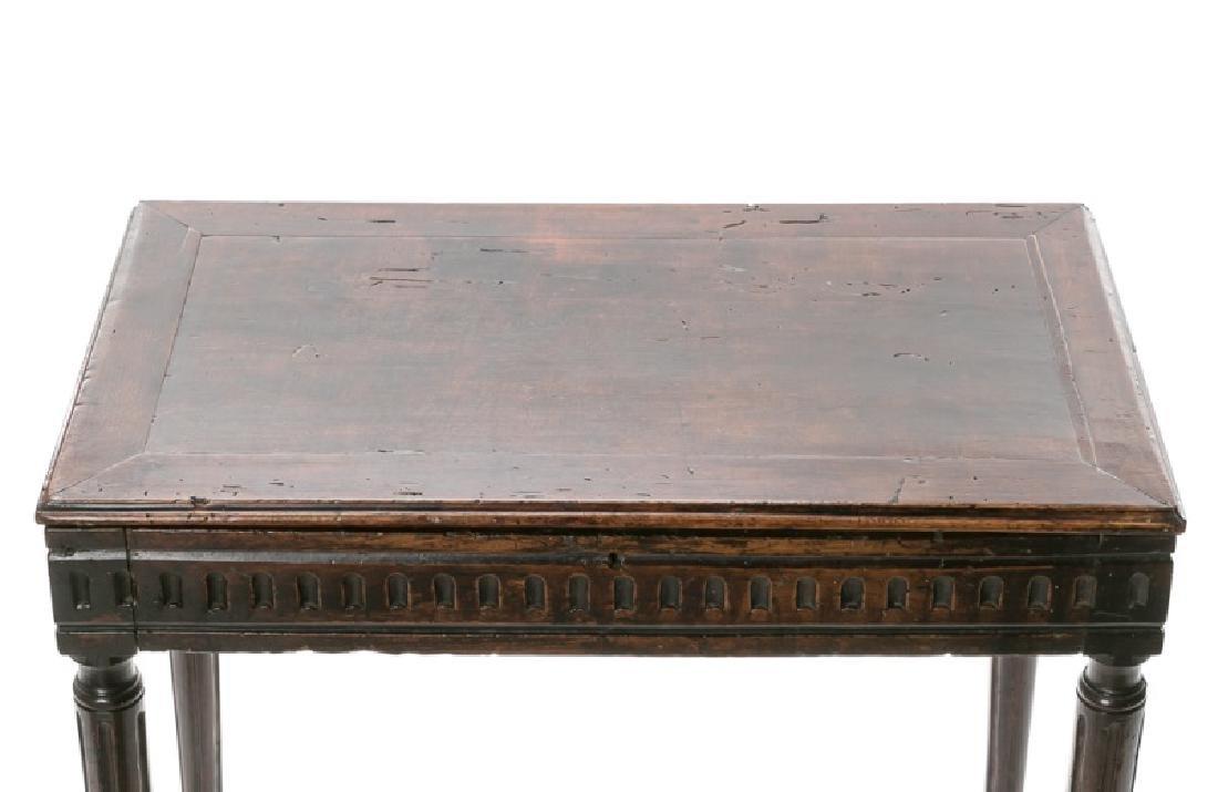 18th/19th C. Italian Tuscan Walnut Painter's Table - 4