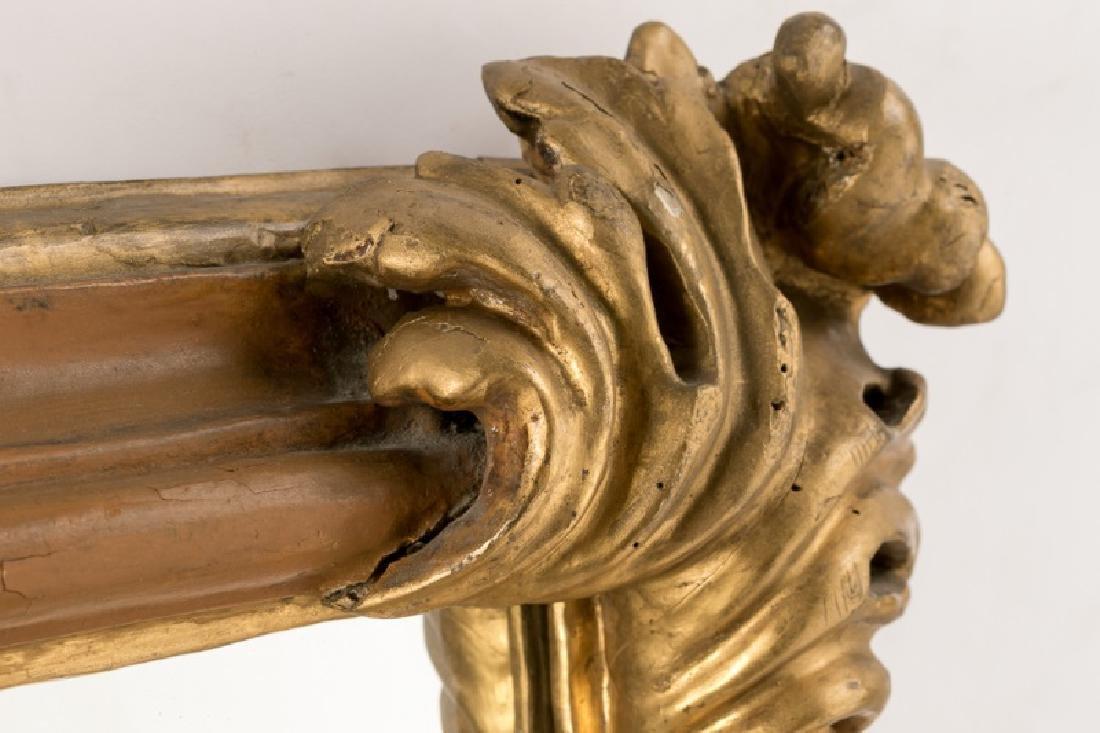 19th C. Italian Giltwood Mirror, Acanthus Corners - 3