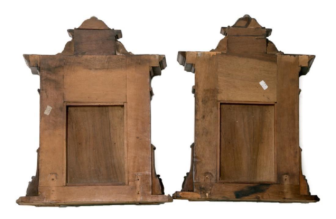 Pair, 19th C. Mahogany & Walnut Wall Shelves - 2