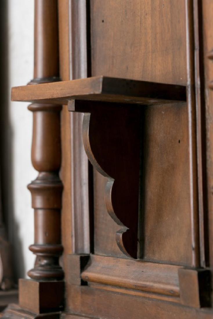 Pair, 19th C. Mahogany & Walnut Wall Shelves - 3