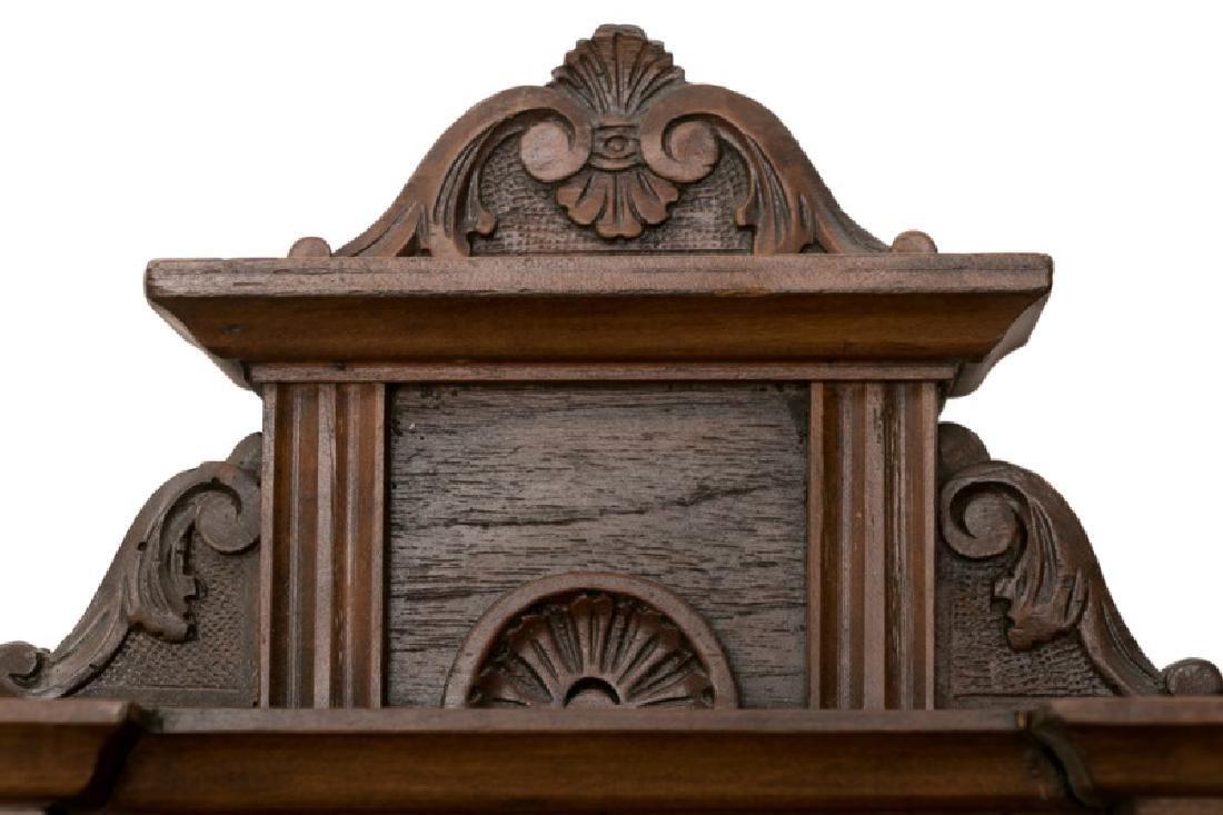 Pair, 19th C. Mahogany & Walnut Wall Shelves - 4