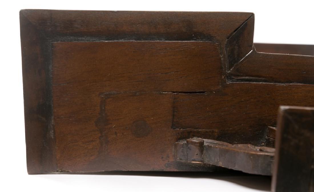 Pair, 19th C. Mahogany & Walnut Wall Shelves - 5