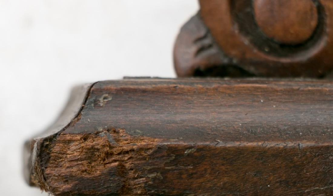 Pair, 19th C. Mahogany & Walnut Wall Shelves - 7