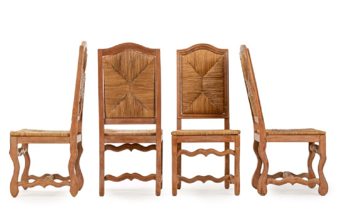 Set of 4 French Provincial Beechwood Side Chairs