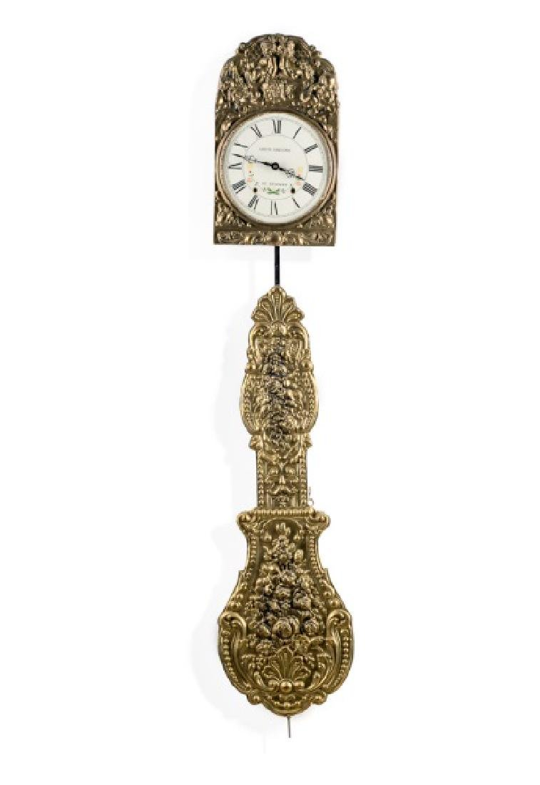 Louis Jaquine St. Etienne Morbier Wall Clock