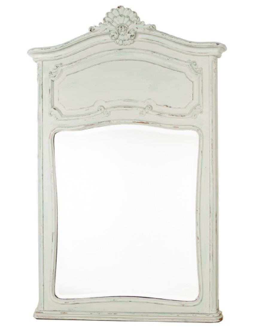 French Provincial Style Trumeau Mirror