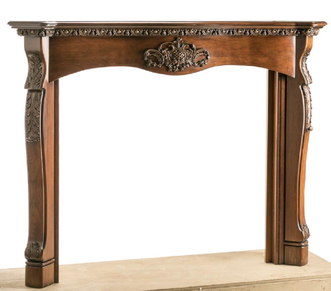French Style Carved Fireplace Surround