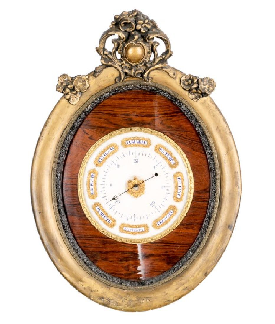 19th C. French Wood & Gilt Wall Barometer