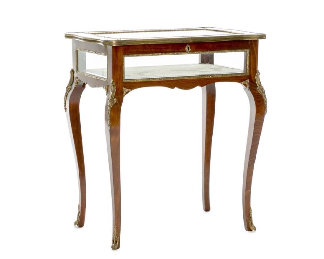Louis XV Style Ormolu Mounted Vitrine Table